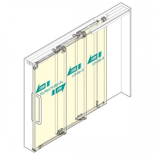 Multiple Synchronised Sliding Door System